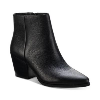 サンアンドプラスストーン レディース ブーツ&レインブーツ シューズ Eryn Block-Heel Booties,  Black Leather