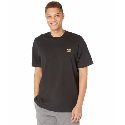 アディダスオリジナルス シャツ トップス メンズ Essentials Tee Black/Hazy Orange