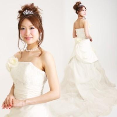 【ウェディングドレス レンタル 9号】【Aライン】ウエディングドレス ウェディング ドレス 披露宴 6225 【往復送料無料】