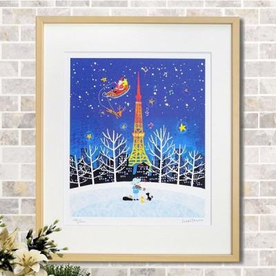 クリスマス アートフレーム はりたつお44 冬 インテリア ポスター 壁掛け