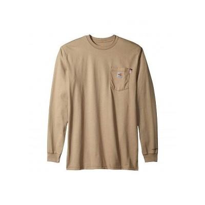 Carhartt カーハート メンズ 男性用 ファッション Tシャツ Big & Tall Flame-Resistant Force Cotton Long Sleeve T-Shirt - Khaki