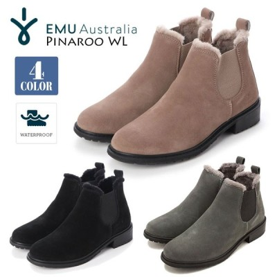 EMU Australia エミュー オーストラリア サイドゴアブーツ レインブーツ シープスキン スエード 保温 防水 レディース Pinaroo WL 品番 W12284 日本正規品
