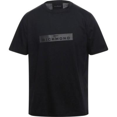 ジョン リッチモンド JOHN RICHMOND メンズ Tシャツ トップス t-shirt Black