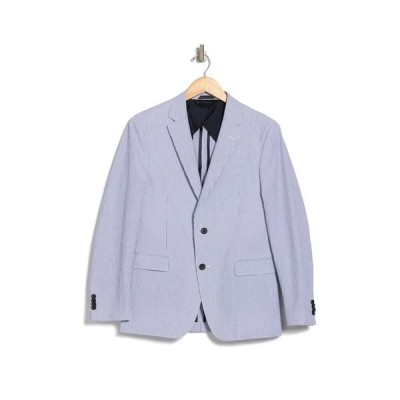 ボス メンズ ジャケット&ブルゾン アウター Nobis Light Blue Striped Two Button Notch Lapel Sport Coat LT PAST/BU