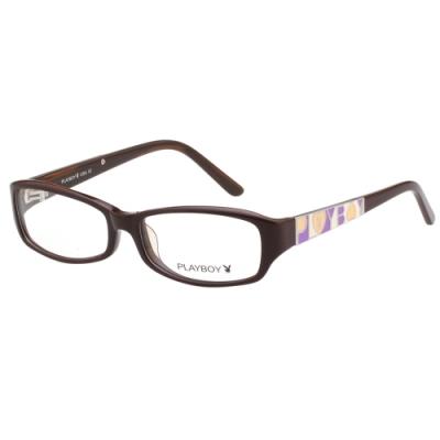 PLAYBOY-時尚光學眼鏡-咖啡紅-PB85315