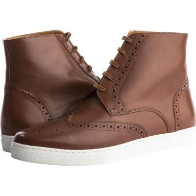 アレキサンダーノエル Alexander Noel メンズ スニーカー ハイカット ウイングチップ シューズ・靴 Kickabout Wing Tip Sneaker High-Top Brown/White