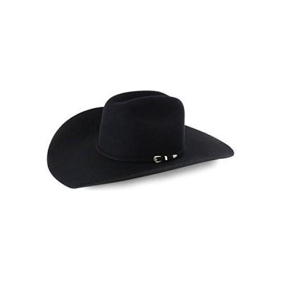 RODEO KING Men's 7X Felt Cowboy Hat Black 7 1/8