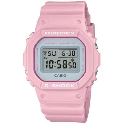 カシオ 腕時計 Casio メンズ Watch G-Shock クォーツ Pink Resin Strap Digital Grey Dial DW5600SC-4