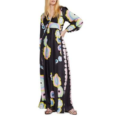 シンシアローレイ レディース ワンピース トップス Dary Graphic Print Long-Sleeve Maxi Dress