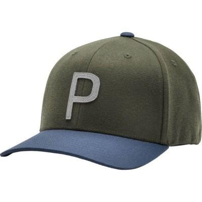 プーマ 帽子 アクセサリー メンズ PUMA Men's Throwback P 110 Snapback Golf Hat DeepLichenGreen