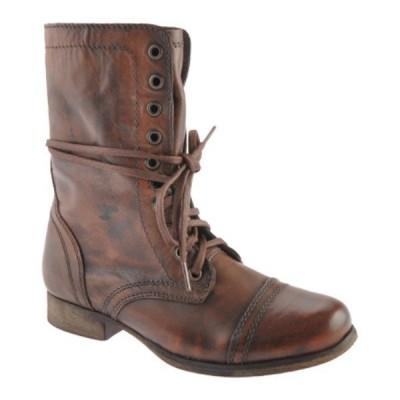 スティーブ マデン Steve Madden レディース ブーツ シューズ・靴 Troopa Boot Brown Leather