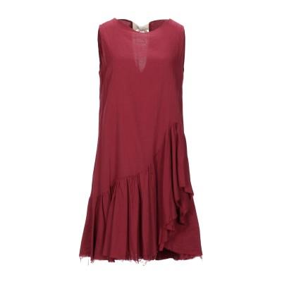 KAOS JEANS ミニワンピース&ドレス ボルドー 40 コットン 100% ミニワンピース&ドレス