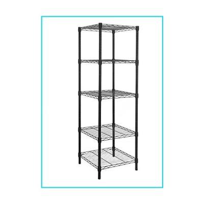 HollyHOME 5 Shelves Adjustable Steel Wire Shelving Rack in Small Space or Room Corner, Metal Heavy Duty Storage Shelf, Utility Rack, Bathroom Storage
