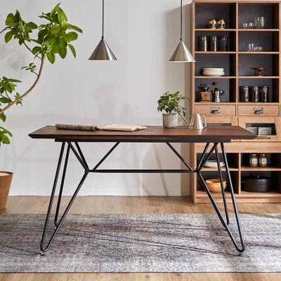 [幅140] ダイニングテーブル 単品 木製 インダストリアル ヴィンテージ調