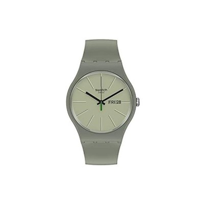 Swatch クォーツ バイオ調達素材ストラップ グリーン 18 カジュアルウォッチ (モデル:SO29M700)