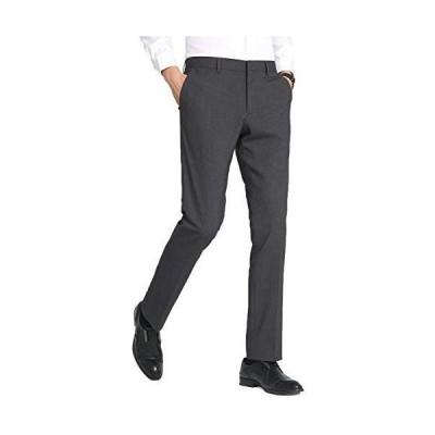 スラックス メンズ ロングパンツ ビジネス フォーマル スリム ノータック スーツ ズボン ウォッシャブル チノパン 光沢 美脚 通勤 スト