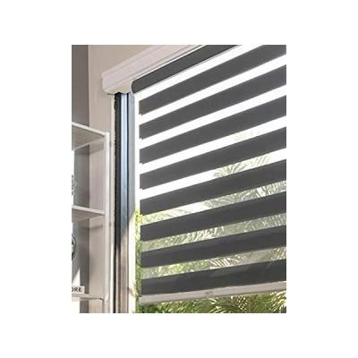 特別価格CHICOLOGY Everyday コードレスゼブラシェード 遮光 2層 窓用ブラインドトリートメント 子供に最適 リビングルーム/寝室/キッチンな好評販売中