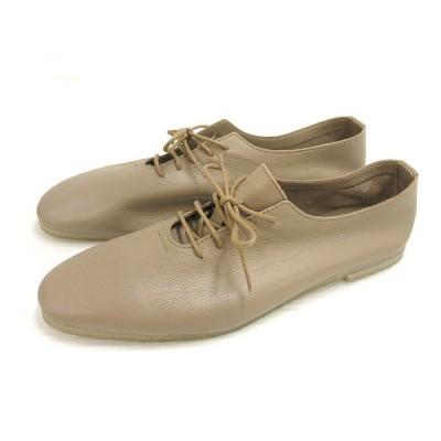 【中古】MARINEDAY マリンデイ レザーシューズ 革靴 38 ブラウンベージュ系 本革 レディース 【ベクトル 古着】