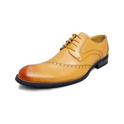 [アラモーダ] 日本製 ビジネスシューズ 本革 メンズ 革靴 紳士靴 外羽根ウイングチップ 1185 (ライトブラウン 25.5 cm)
