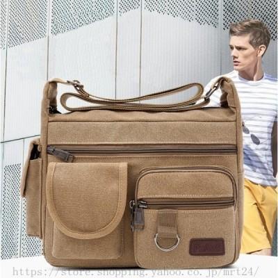 ショルダーバッグ メンズ レディース ビジネスバッグ 肩掛け スポーツ ポケット多い 無地 カジュアル 鞄 運動 バッグ 通勤 アウトドア 旅行 男女兼用