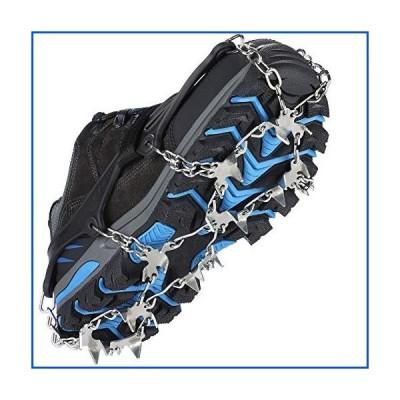 【新品】Crampons Ice Cleats 25 ステンレススチール スパイク トラクション スノー グリップ ブーツ 靴 メン