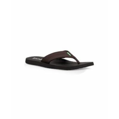 サヌーク メンズ サンダル シューズ Men's Cozy Coaster Flip-Flop Sandals Dark Brown