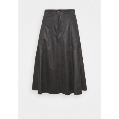 ドライコーン スカート レディース ボトムス OCTARIA - A-line skirt - black