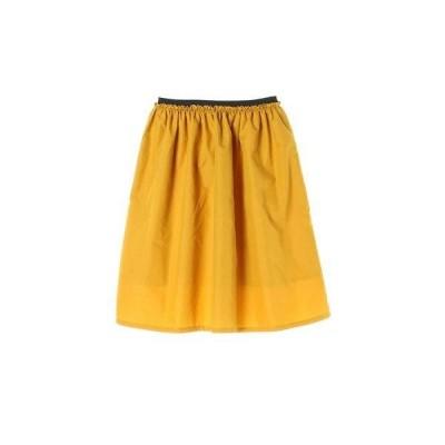 イーハイフンワールドギャラリー E hyphen world gallery T/Cゴムギャザーミディスカート (Yellow)