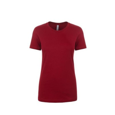 レディース 衣類 トップス Next Level NL3900 - Women's Boyfriend Tee X-Small Cardinal Tシャツ