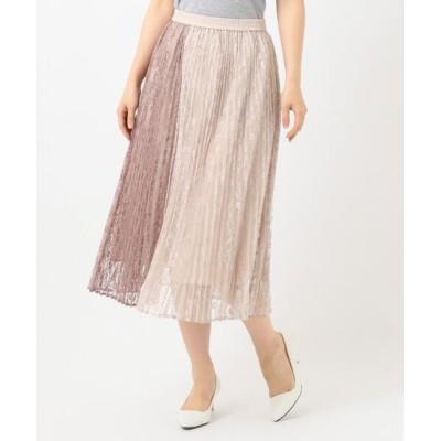 any SiS / 【洗える】バイカラーレースプリーツ スカート WOMEN スカート > スカート