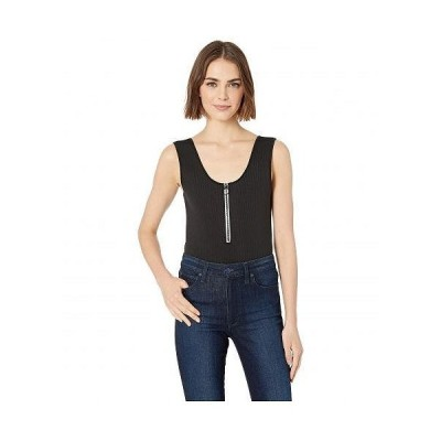 BCBGeneration ビーシービーゲネレーション レディース 女性用 ファッション トップス Zip Front Bodysuit - TZT1193702 - Black