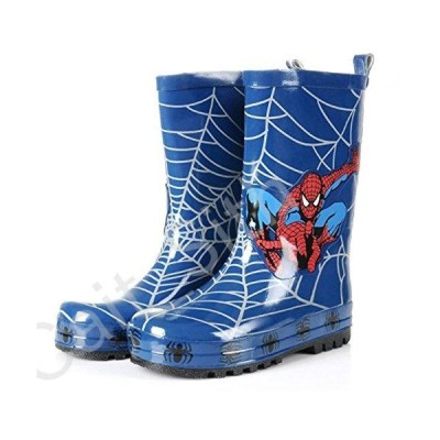 Spider-Man Boy Kids Wellington Boots Wellies Rain Boot (Toddler/Little Kid) (11M US Little Kid) Blue[並行輸入品]