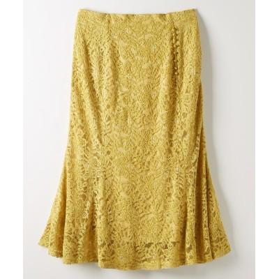 大きいサイズ ベロアレーススカート ,スマイルランド, スカート, plus size skirts