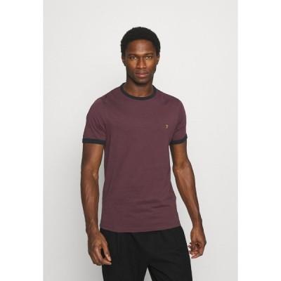ファーラー Tシャツ メンズ トップス GROVES RINGER TEE - Basic T-shirt - farah red