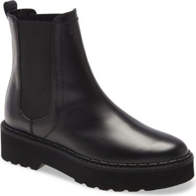 トッズ TOD'S レディース ブーツ チェルシーブーツ シューズ・靴 Platform Chelsea Boot Black