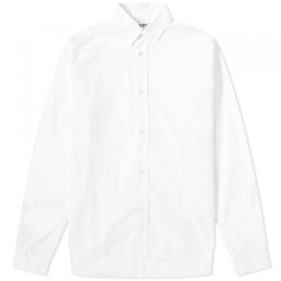 ケンゾー シャツ ジャケット メンズKenzo Tiger Crest Poplin ShirtWhite