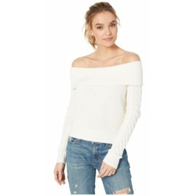 BCBGeneration ビーシービージェネレーション 服 スウェット Off Shoulder Cable Sweater