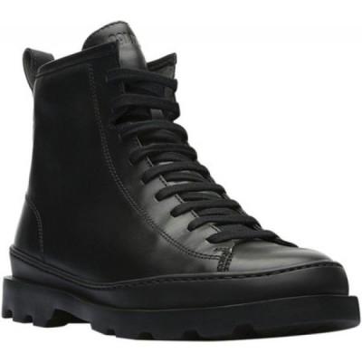 カンペール Camper レディース ブーツ コンバットブーツ シューズ・靴 Brutus Combat Boot Black Smooth Leather