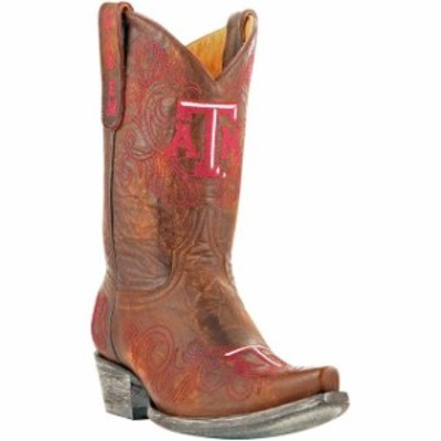 Game Day Boots ゲーム デイ ブーツ シューズ ブーツ Texas A&M Aggies Womens Tan 10 Embroidered Boots