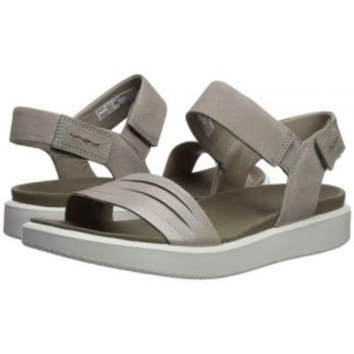 ECCO エコー レディース 女性用 シューズ 靴 サンダル Flowt Strap Sandal Moonrock Silver/Warm Grey Metallic Cow【送料無料】