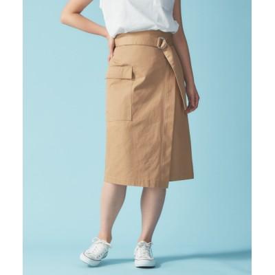Rouge vif la cle / ポケット付ラップスカート WOMEN スカート > スカート