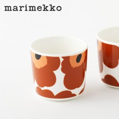 marimekko / マリメッコ ラテマグ コーヒーカップ 単品 2020 秋 冬 ウニッコ Unikko 花柄 マグカップ ブラウン 箱なし 1個入り