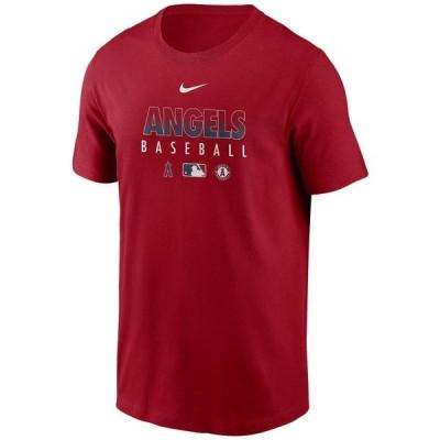 ナイキ Tシャツ トップス メンズ Los Angeles Angels Men's Early Work Dri-Fit T-Shirt Red
