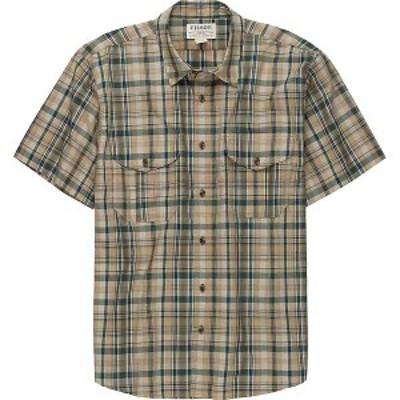 フィルソン メンズ シャツ トップス Filson Men's Short Sleeve Feather Cloth Shirt Khaki / Olive / Blue Plaid