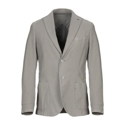 マニュエル リッツ MANUEL RITZ テーラードジャケット 鉛色 50 コットン 97% / ポリウレタン 3% テーラードジャケット
