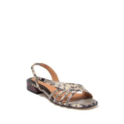 ジョア レディース サンダル シューズ Palma Snake Embossed Leather Asymmetrical Sandal NATUR PYTH