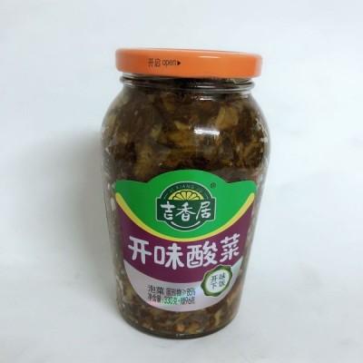 吉香居 開味酸菜(瓶装)426g ザーサイ 中国人気漬物