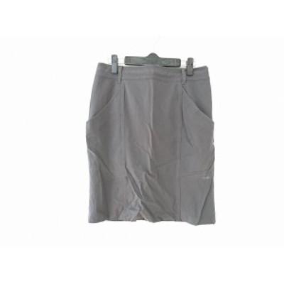ダブリュービー wb スカート サイズ40 M レディース ダークグレー【中古】