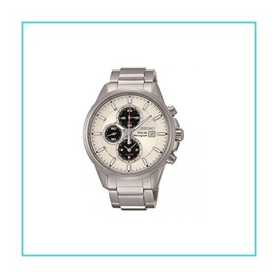 Seiko Men's SSC251P1 Solar Chronograph Stainless Steel 100M Water Resistance Watch【並行輸入品】