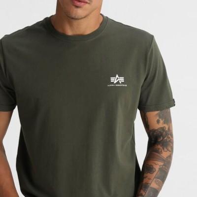 アルファインダストリーズ メンズ ファッション BASIC T - Basic T-shirt - dark oliv
